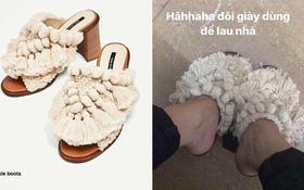 """Tưởng mua được đôi Zara """"chất chơi"""", nào ngờ Fashionista lừng lẫy nhận được giày... lau nhà"""