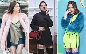 Tất lưới đúng mốt & khó mặc: Chi Pu diện xuất sắc nhất, Ngọc Trinh - Hòa Minzy lại tự dìm mình