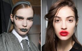 """Những kiểu makeup """"dọa ma"""" khiến người xem phải giật mình tại Tuần lễ thời trang Thu/Đông 2017"""
