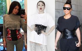 Tóc Tiên, Hương Giang Idol... đua nhau khoe eo với mốt diện corset cùng đồ thun như nhà Kardashian
