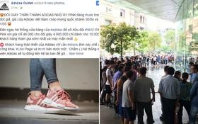 """Hết Zara Outlet lừa đảo, lại thêm page giả mạo adidas tung tin """"mua NMD hồng đang hot với giá 48.000 đồng"""""""