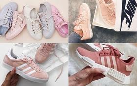 """Không phải sneaker trắng, sneaker màu hồng mới là """"boss"""" trong lòng con gái Việt lúc này"""