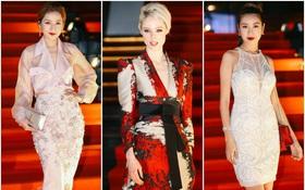 Dàn mỹ nhân Vbiz diện váy áo lộng lẫy, đọ dáng cùng Coco Rocha trên thảm đỏ