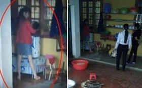 Bố hốt hoảng thấy hiệu trưởng và 2 cô giáo dọa cắm điện, bế ngược con trai 4 tuổi vào máy vặt lông gà