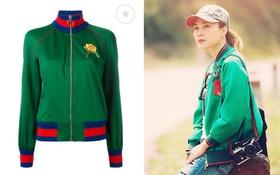 """Mỹ Tâm mặc áo khoác giống... đồ """"fake"""" của Gucci"""
