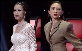 """4 HLV The Voice """"hoang mang, hốt hoảng"""" sau tiết mục """"Lạc trôi"""" của Han Sara"""