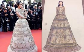 """Chiếc đầm cuối cùng của Lý Nhã Kỳ tại Cannes: """"Rẻ"""" nhất nhưng lại """"chặt chém"""" nhất!"""