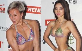 Người mẫu xứ Trung khoe vẻ đẹp cơ bắp vô cùng lạ lẫm