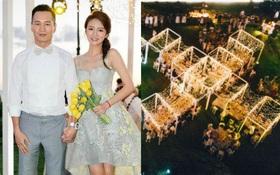Toàn cảnh tiệc đón khách dự đám cưới đẹp như mơ của An Dĩ Hiên và bạn trai đại gia