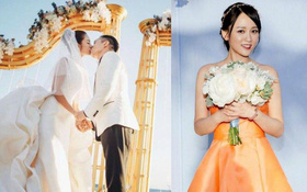 Đám cưới hot nhất Cbiz: An Dĩ Hiên cùng đại gia Macau trao nhau nụ hôn, Trần Kiều Ân bắt được hoa cưới