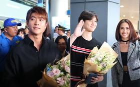"""Kang Tae Oh và sao """"Reply 1988"""" xuất hiện giản dị, bị fan Việt vây kín tại sân bay"""