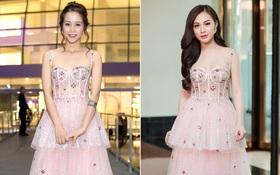 """An Nguy """"hai lưng"""" và Kelly Nguyễn gợi cảm, ai diện chiếc đầm hồng công chúa xinh hơn?"""