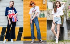 Xét về khoản mặc đồ đơn giản mà vẫn nổi bật chói lọi, giới trẻ Hàn nhất định không có đối thủ