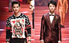 """Sàn diễn Dolce&Gabbana thành """"Đại hội mỹ nam"""", nổi nhất là Mario Maurer và Vương Tuấn Khải!"""