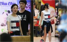 """""""Nữ thần sắc đẹp thế hệ mới"""" Jung Chae Yeon thoải mái đi mua sắm và ăn kem ở trung tâm thương mại đông người tại Việt Nam"""