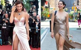 """Cô nàng này đã diện thử chiếc váy """"lộ hàng"""" giống Bella Hadid và đây là cái kết"""