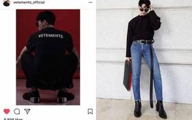 """""""Công phá"""" xong Gucci, Kelbin Lei lại tiếp tục """"chinh phục"""" Instagram của Vetements"""