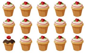 Tìm thấy 7 chiếc cupcake khác biệt, bạn đích thị là thiên tài nhanh tay, nhanh mắt