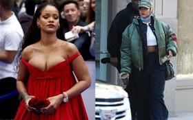 """Rihanna đi đâu cũng phô ra hai quả """"bom nổ chậm"""", thời trang ngày càng khó hiểu quá đà"""