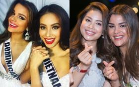 Hai năm gặp lại, Phạm Hương và bạn thân Hoa hậu người Dominica, ai đẹp hơn?