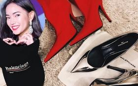 Hết Gucci, Châu Bùi lại quay sang vơ vét cả loạt hàng hiệu từ Balenciaga
