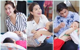 Phạm Hương, Lệ Hằng cùng Hoa hậu Dominica giản dị về Củ Chi làm từ thiện
