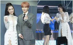 """Đông Nhi thân thiện, bắt tay khi hội ngộ Leeteuk và Taeyeon tại """"Asia Song Festival"""""""