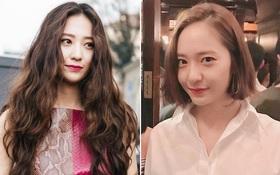 """Từ """"nữ thần"""" tóc dài, Krystal bỗng lộ trán thưa ít tóc và trông kém sắc hơn hẳn vì cắt tóc ngắn"""