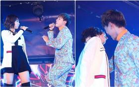 """""""Cặp bài trùng"""" Min - Erik biểu diễn cực sung, suýt chạm môi trên sân khấu"""