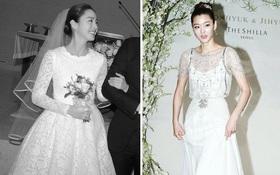 Váy cưới của các mỹ nhân đình đám xứ kim chi: người chi cả tỷ cho hàng hiệu, người diện thiết kế không tên tuổi