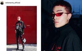 """Kelbin Lei tiếp tục được thương hiệu đình đám Vetements """"lăng xê"""" trên Instagram"""