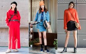 """Ngắm street style màu mè của giới trẻ Hàn, bạn sẽ học được """"chân kinh"""" mặc đơn giản mà vẫn đẹp"""