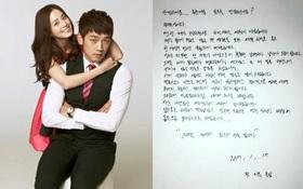 """Bức tâm thư siêu ngọt ngào Bi Rain viết cho fan: """"Kim Tae Hee là món quà tuyệt vời nhất với tôi"""""""