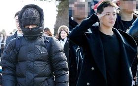Cuối cùng đã xuất hiện ảnh T.O.P (Big Bang) và Junsu (JYJ) nhập ngũ rồi!