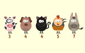 Người thông minh mới tìm ra được số còn thiếu trong dãy 5 con vật này