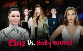 Mỹ nhân Cbiz - Hollywood đọ sắc: Lưu Diệc Phi kém sang bên Gigi Hadid, Phạm Băng Băng sắc sảo không thua Blake Lively