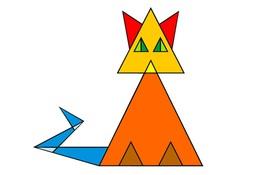 Người tỉnh táo sẽ biết ngay có bao nhiêu hình tam giác trong chú mèo hình học này