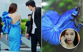 """Krystal mặc sến như con cá cảnh, tát """"Thủy thần"""" Nam Joo Hyuk cái bốp"""