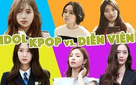 """Idol Kpop đứng cạnh diễn viên: Người hóa """"bạch tuộc"""", kẻ vẫn đẹp """"bá cháy""""!"""