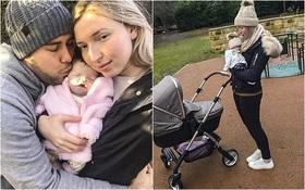 Mẹ chăm sóc và ôm ấp con gái sơ sinh đã qua đời suốt 16 ngày trước khi chôn cất