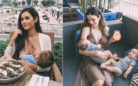 Bà mẹ bỉm sữa Singapore gây bão Facebook Việt vì vẻ đẹp quá gợi cảm, về dáng chỉ 3 tuần sau khi sinh đôi