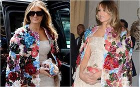 """Đệ nhất phu nhân Mỹ Melania Trump gây choáng với áo khoác """"ngàn hoa"""" có giá gần 1,2 tỷ đồng"""