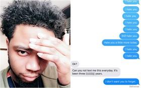 """Suốt 3 năm liền, chàng trai vẫn miệt mài nhắn tin """"Tôi ghét cô"""" rồi gửi cho bạn gái cũ vào 7h45' sáng"""