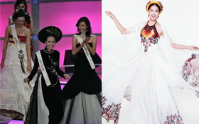 Đi thi Miss World, các người đẹp Việt thường chuẩn bị những kiểu áo dài như thế nào?