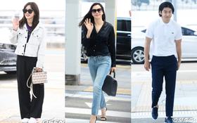 """""""Hoa hậu Hàn đẹp nhất thế giới"""" sang chảnh bên bạn trai, Dara đẹp nhưng mặc cái gì thế này?"""