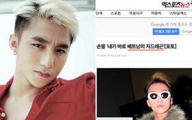 """Báo Hàn giật hẳn tít Sơn Tùng tự nhận là """"G-Dragon của Việt Nam"""""""
