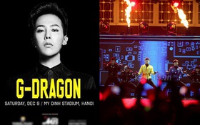Xôn xao về poster thông báo G-Dragon (Big Bang) diễn tại sân vận động Mỹ Đình vào tháng 12