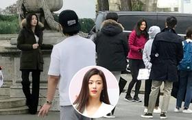 """Fan chụp được ảnh hiếm hoi của """"mợ chảnh"""" Jeon Ji Hyun ở tuần thai thứ 14 tại Pháp"""