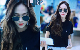 """""""Công chúa băng giá"""" Jessica đẹp như nữ thần tại sân bay Hàn sang Việt Nam"""