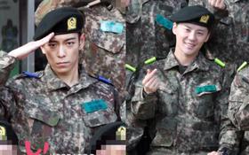 Thái độ đối lập hoàn toàn giữa T.O.P (Big Bang) và Junsu (JYJ) trong loạt ảnh quân ngũ hiếm hoi